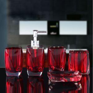 Fashionable Creative Resin Bath Ensembles 5-piece Bathroom Accessories