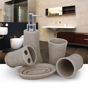 Sandstone Creative Resin Bath Ensembles 4-piece 5-piece Bathroom Accessories