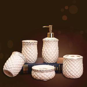 Modern Rural Creative Ceramic Bath Ensembles 5-piece Bathroom Accessories
