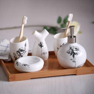 European Simple Creative Ceramic Bath Ensembles 5-piece Bathroom Accessories