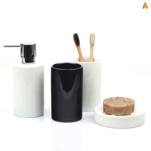 Modern Cylindrical Creative Ceramic Bath Ensembles 5-piece Bathroom Accessories