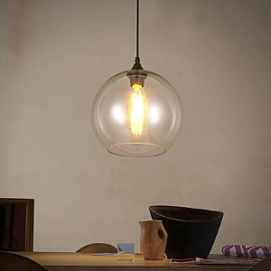 220V 20*18CM 10-20㎡Creative Nordic Contracted Rural Glass Ball Single Head Droplight Light Led