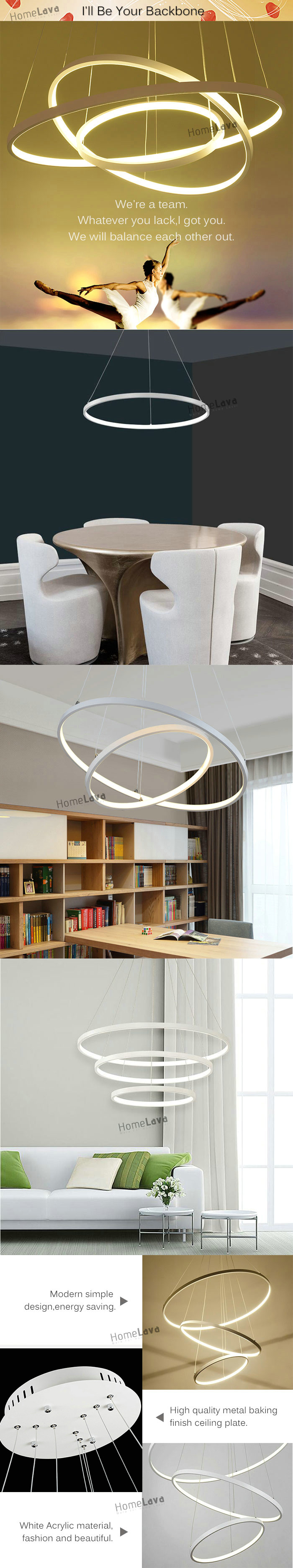 Modern Simple Metal + Acrylic White / Warm White Light LED Patch Ceiling Light Energy Saving(I'll Be Your Backbone)