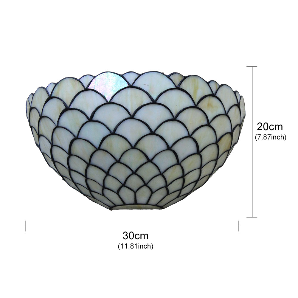 12inch European Pastoral Retro Style Wall Light Scale Pattern Shade Bedroom Living Room Dining Room Kitchen Lights